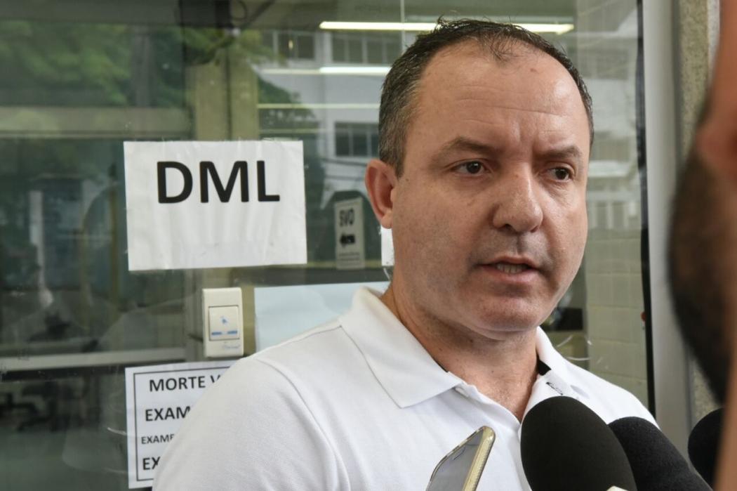 O empresário Marcos Venturini, primo da mulher morta com um vergalhão na cabeça, em Vila Velha. Crédito: Carlos Alberto Silva