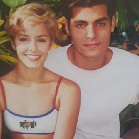 Bianca Rinaldi com Thiago Lacerda na época de 'Malhação', em 1997. Crédito: Instagram/Bianca Rinaldi