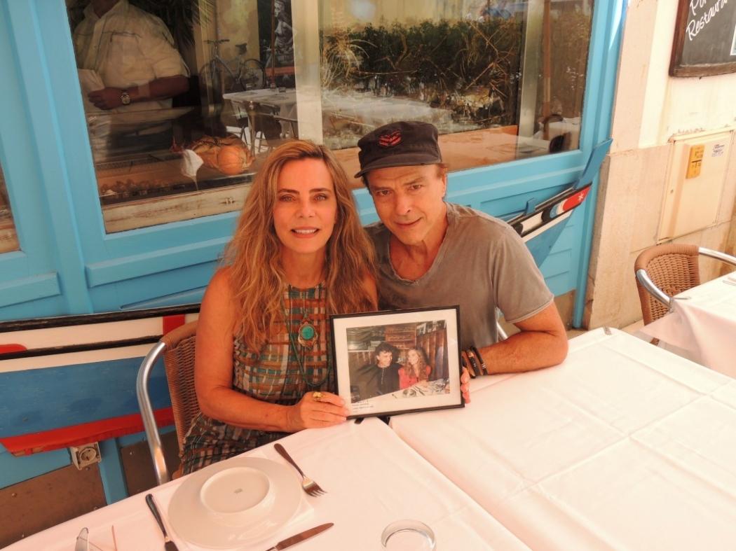 Carlos Alberto Riccelli e Bruna Lombardi. Crédito: Instagram / Bruna Lombardi