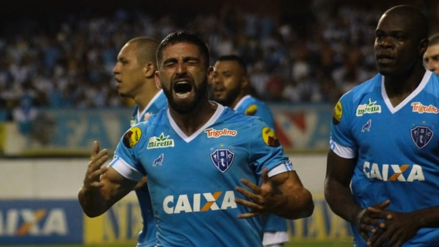 Pedro Carmona fez o gol de empate do Papão e que garantiu o título aos paraenses. Crédito: Jorge Luiz/Paysandu SC