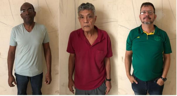 Humberto, Marco e José foram presos nesta quinta-feira (17). Crédito: Montagem sobre fotos de Divulgação