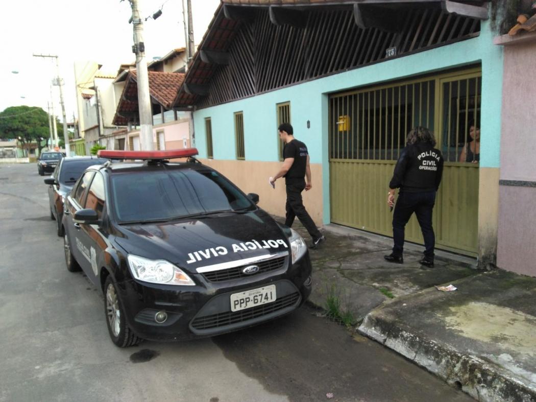Polícia realiza operação em cidades do Espírito Santo. Crédito: Divulgação