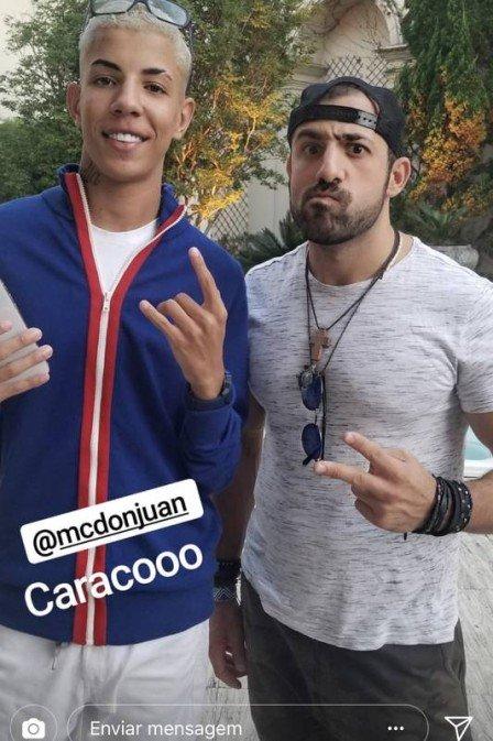 Ex-BBB Kaysar quer se lançar no funk após clipe com MC Don Juan. Crédito: Reprodução/Instagram