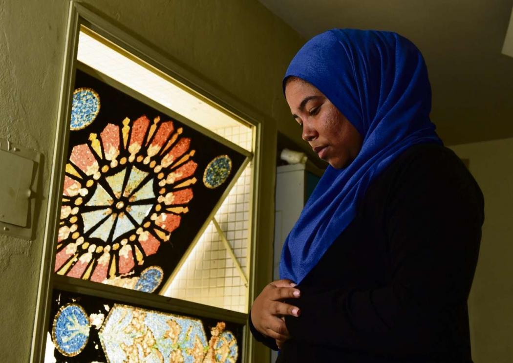 Poliana Veiga de Sousa se converteu ao islamismo. Crédito: Ricardo Medeiros