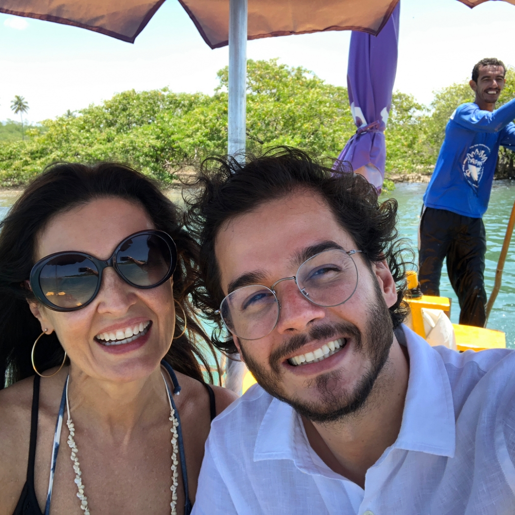 Túlio Gadêlha tinha namorada quando Fátima Bernardes o conheceu. Crédito: Reprodução/Instagram @fatimabernardes