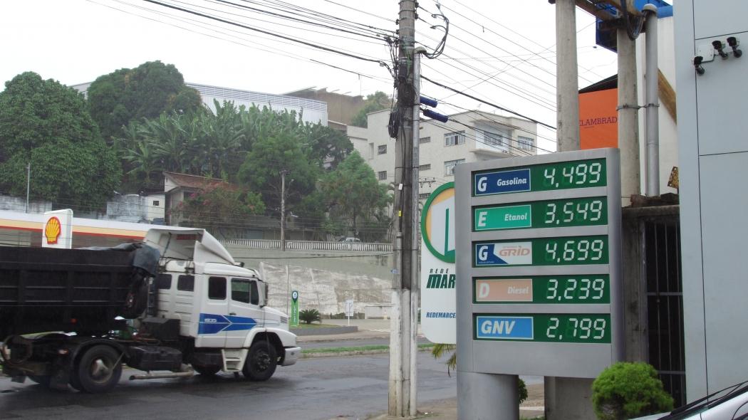 Menor preço do diesel registrado pela reportagem foi de R$ 3,23 . Crédito: Kaique Dias