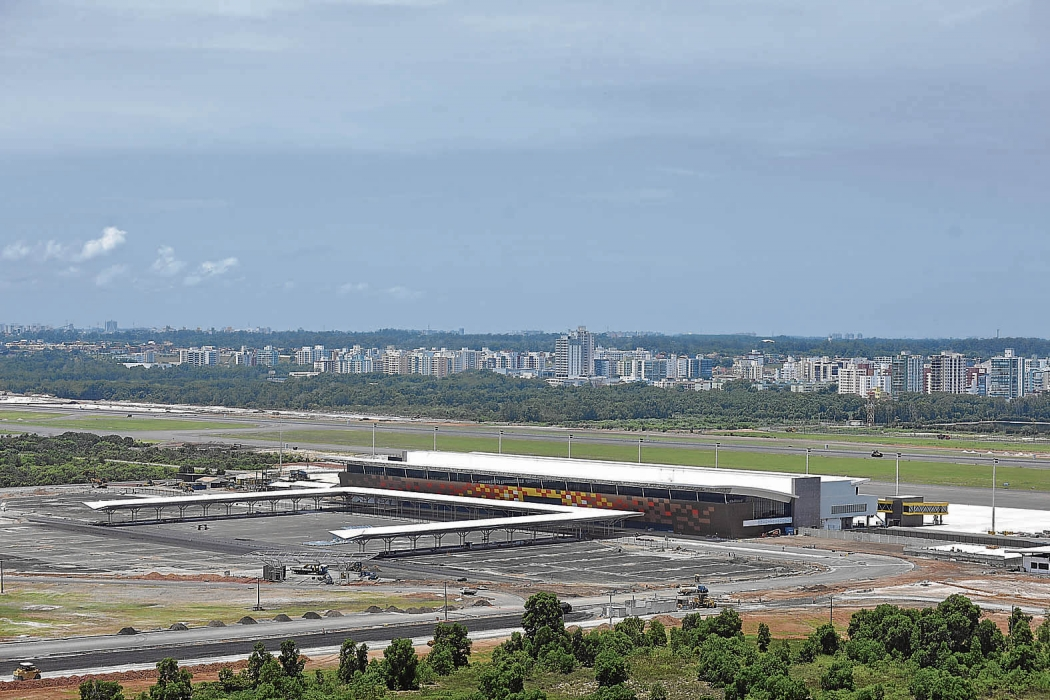 Nova pista do aeroporto . Crédito: Marcelo Prest