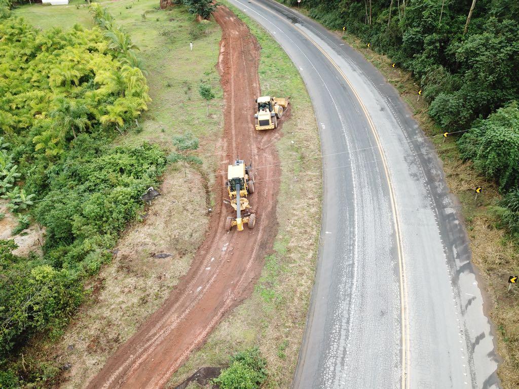 Trecho da BR 262 que passa por duplicação em Marechal Floriano. Crédito: Divulgação/Dnit-ES