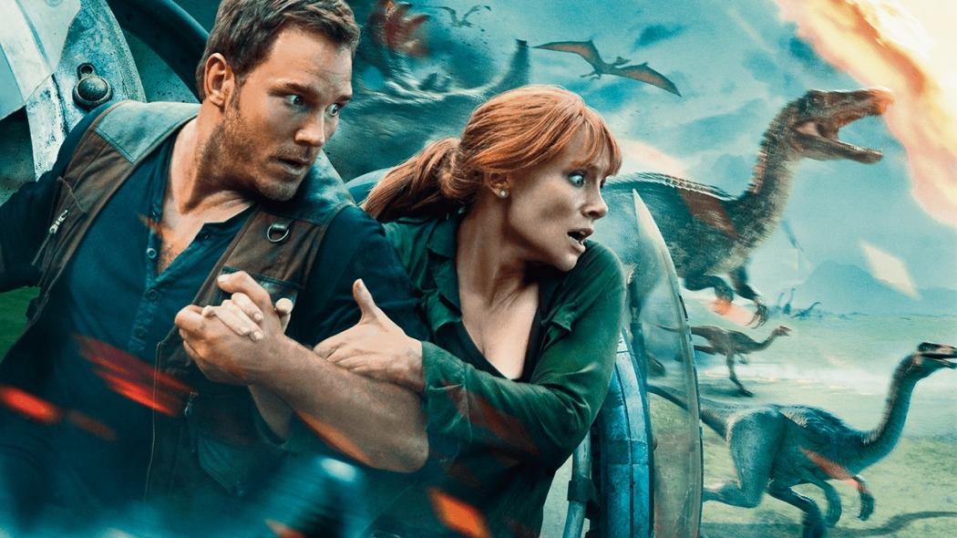 Chris Pratt e Bryce Dallas Howard estão de volta em nova aventura. Crédito: Universal Pictures/Divulgação