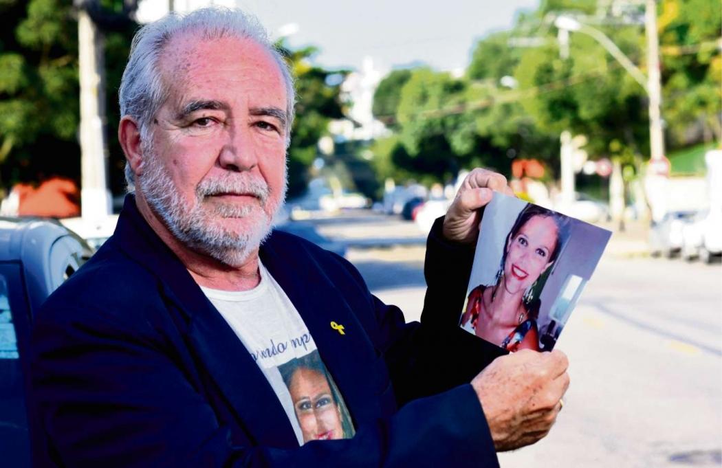 Após a morte da filha Samia, o empresário Izaias Moreira passou a se envolver em ações pela segurança no trânsito. Crédito: Ricardo Medeiros