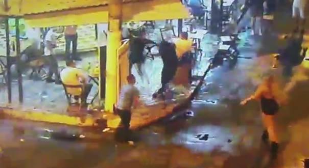 Confusão vira caso de polícia em Itaparica, em Vila Velha. Crédito: Reprodução