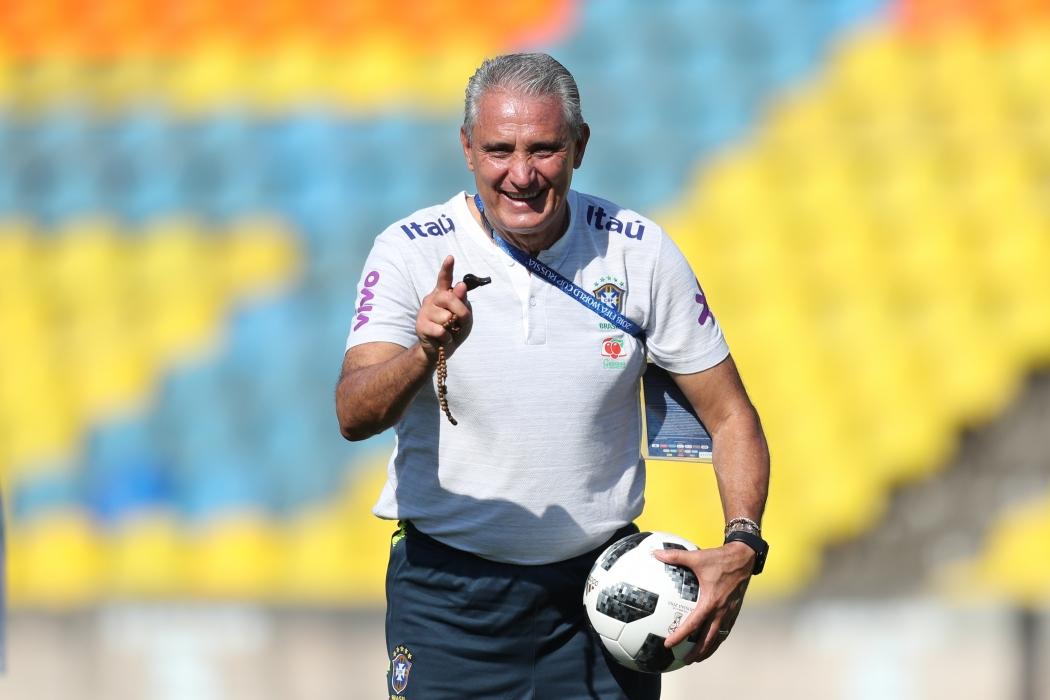 Tite confirmou que o time do Brasil para o jogo de sexta-feira será o mesmo da estreia. Crédito: Lucas Figueiredo/CBF