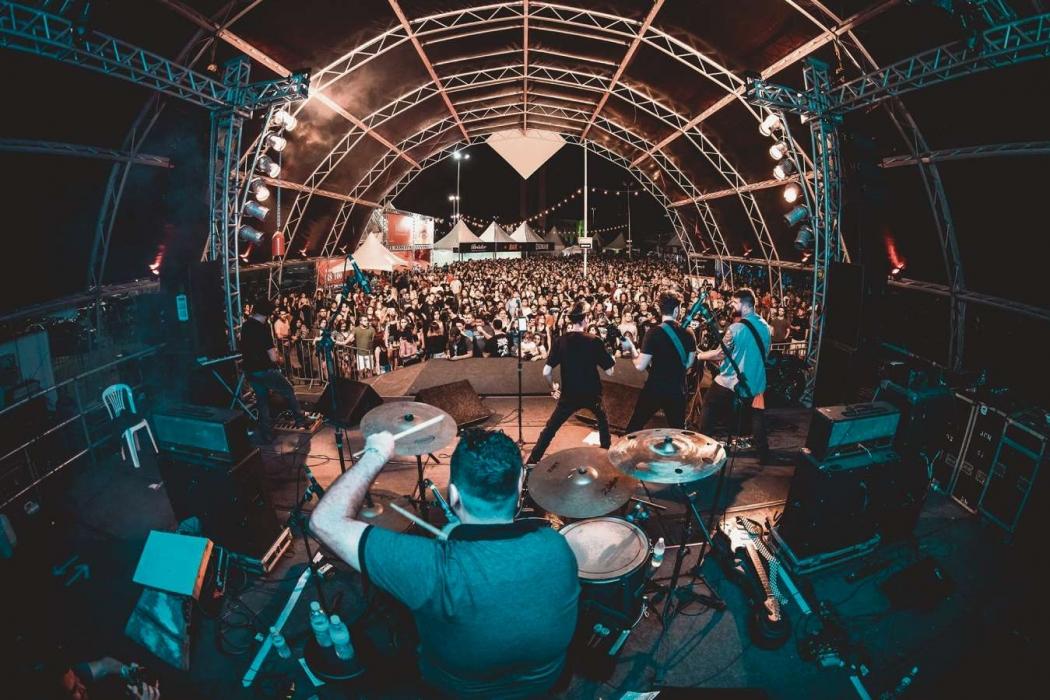Show da 1ª etapa Vitória Rock Festival 2018 rolou  em abril . Crédito: Ciro Trigo/Divulgação