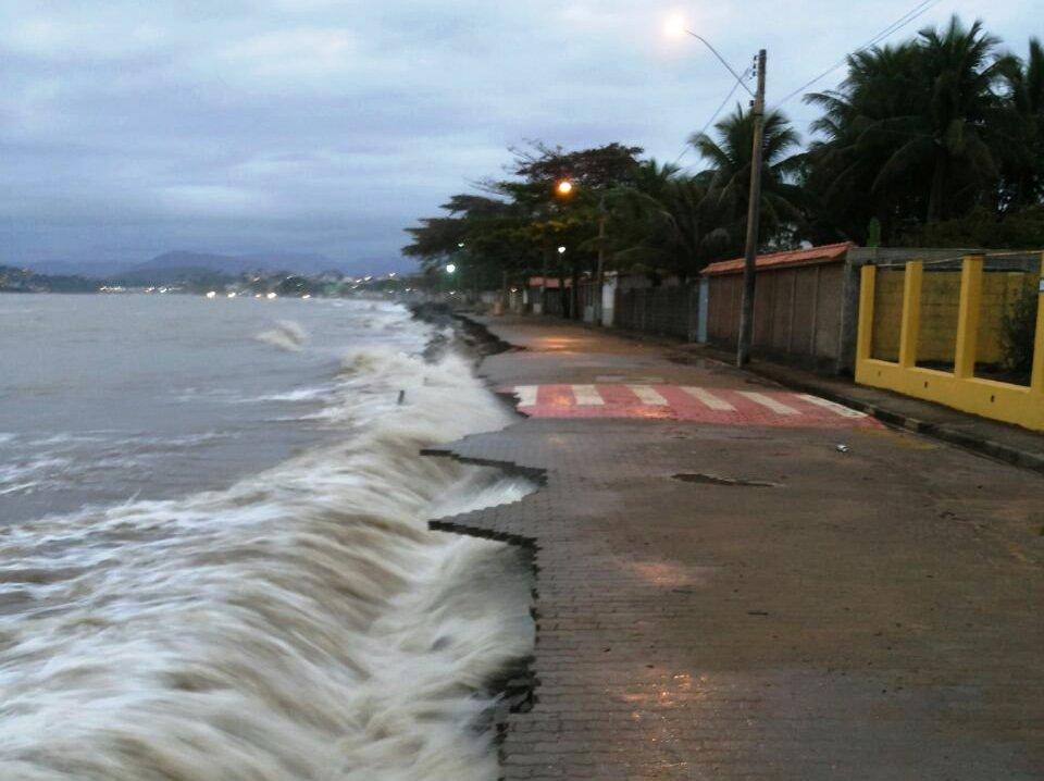 Em Anchieta de contenção está em fase de licitação. Crédito: Divulgação/Prefeitura de Anchieta