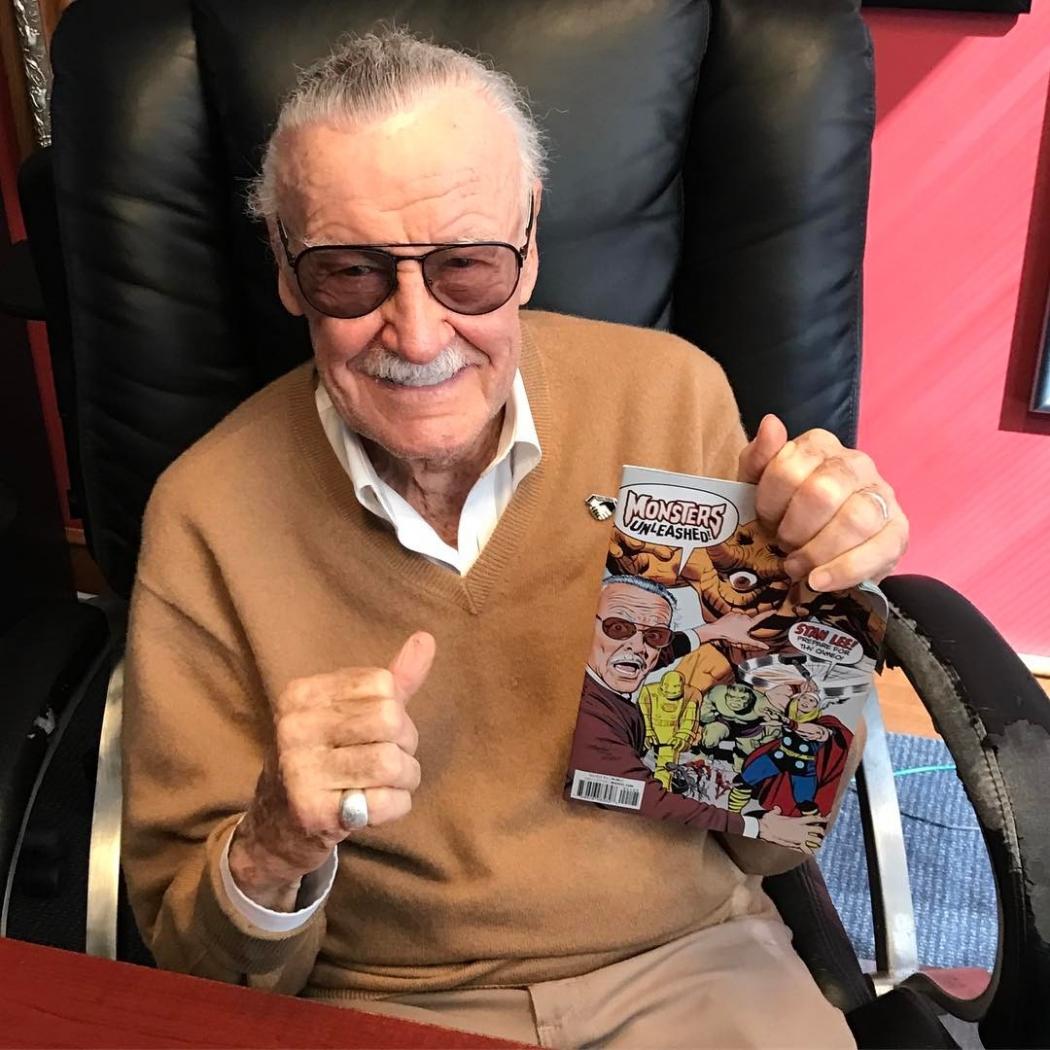 O empresário Stan Lee, criador de diversos personagens da Marvel Comics. Crédito: Reprodução/Instagram