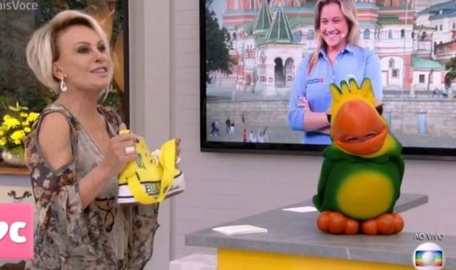 Ana Maria Braga divertiu Fernanda Gentil com indireta. Crédito: Twitter/@maisvoce_globo
