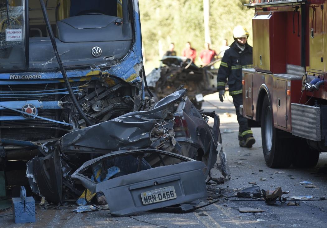 Acidente na Rodovia José Sette, em Cariacica, deixou quatro mortos. Crédito: Vitor Jubini
