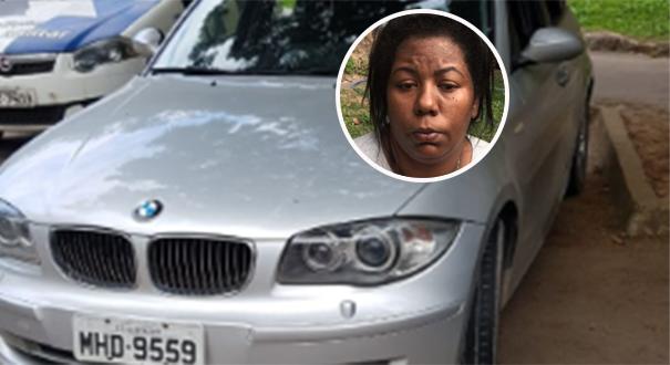 Jaqueline da Luz estava em uma BMW junto com outros quatro comparsas