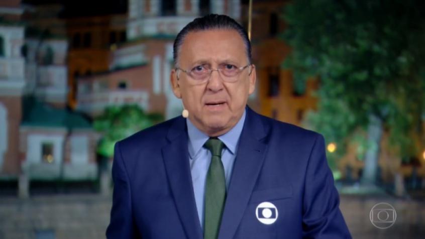 Galvão Bueno. Crédito:  Reprodução/TV Globo