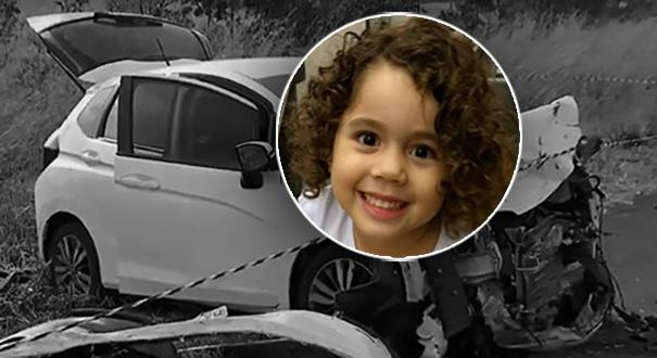 Menina Helora Maria Soares Brandão sobreviveu ao acidente no Mato Grosso. Crédito: Reprodução