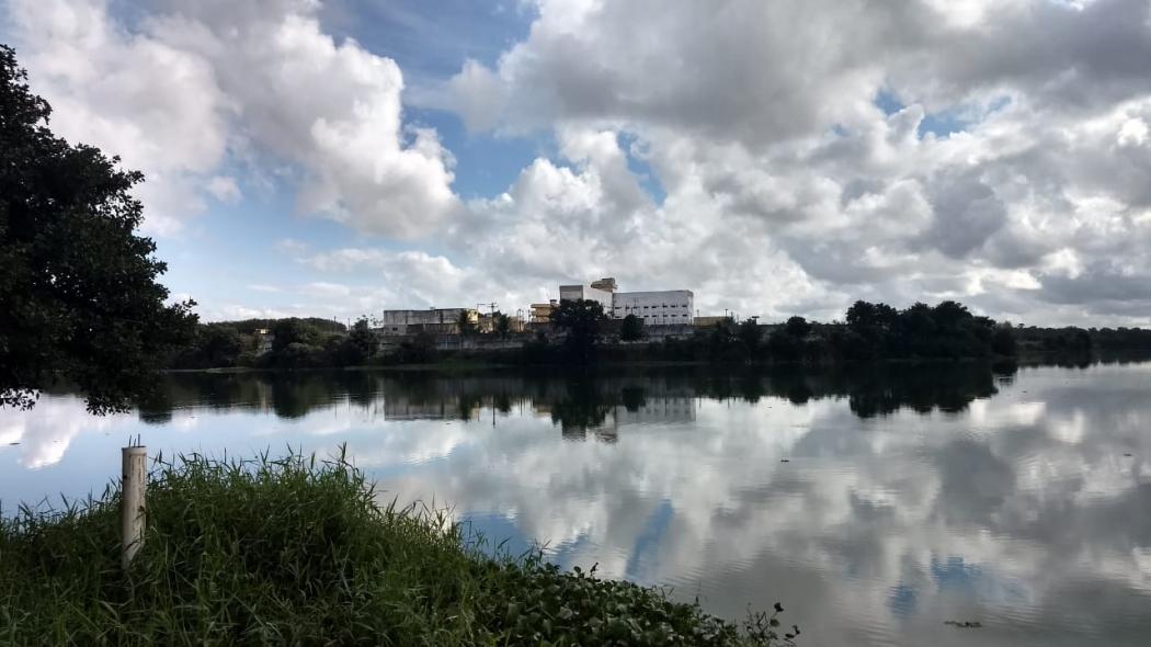 Lagoa onde corpo de detento foi encontrado. Crédito: Kaio Henrique