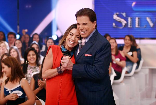 Silvio Santos sugere orgia para filha Patricia durante programa. Crédito: Reprodução/Divulgação/SBT