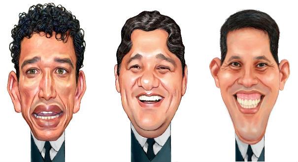 Magno Malta, Ricardo Ferraço e Amaro Neto. Crédito: Amarildo