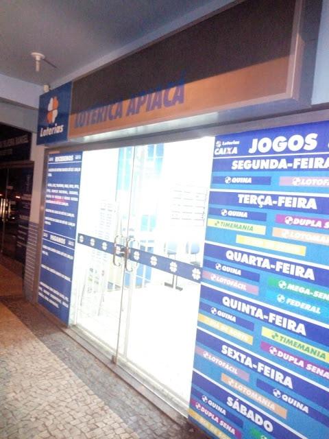 Bandidos invadem casa lotérica e levam R$ 30 mil em Apiacá. Crédito: Colaborador Rede Gazeta - Alan Gonçalves