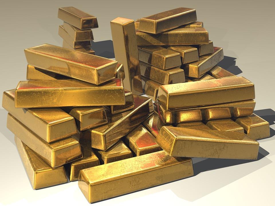 Barras de ouro. Crédito: Reprodução | Pixabay