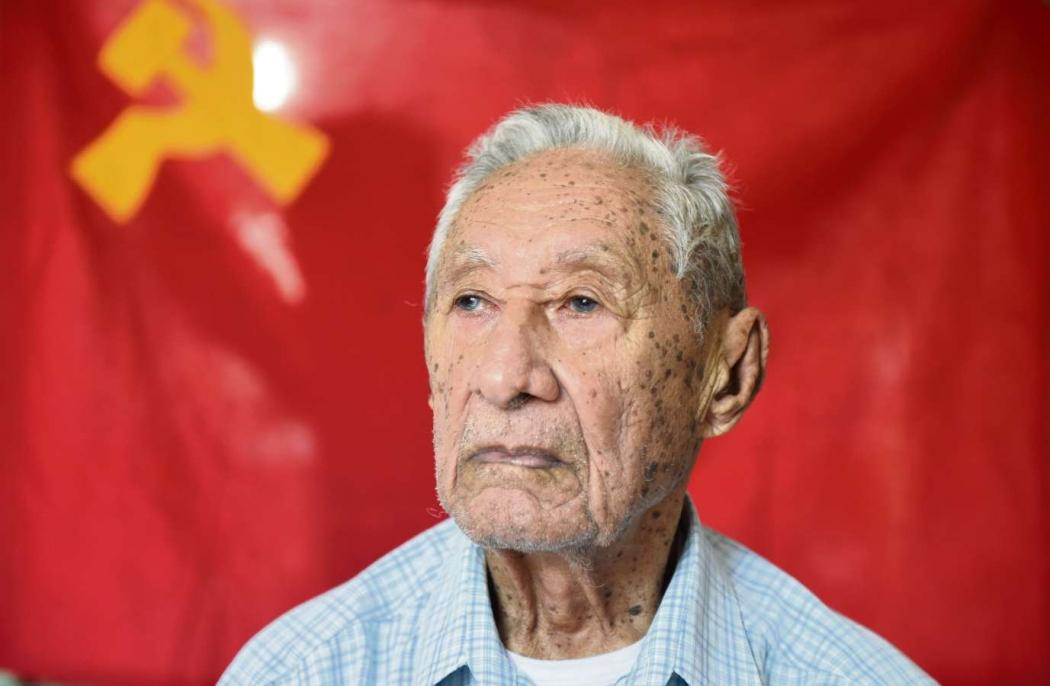 Antônio Granja continua participando de encontros políticos e fala com orgulho de suas raízes comunistas. Crédito: Vitor Jubini | GZ