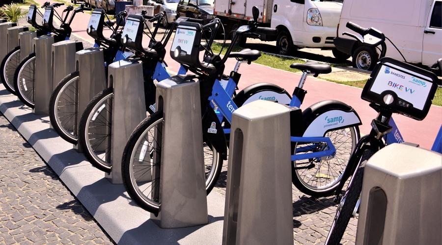 Bike VV possui 20 estações em Vila Velha. Crédito: Divulgação/PMVV