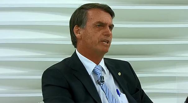 Jair Bolsonaro na programa Roda Viva. Crédito: Reprodução