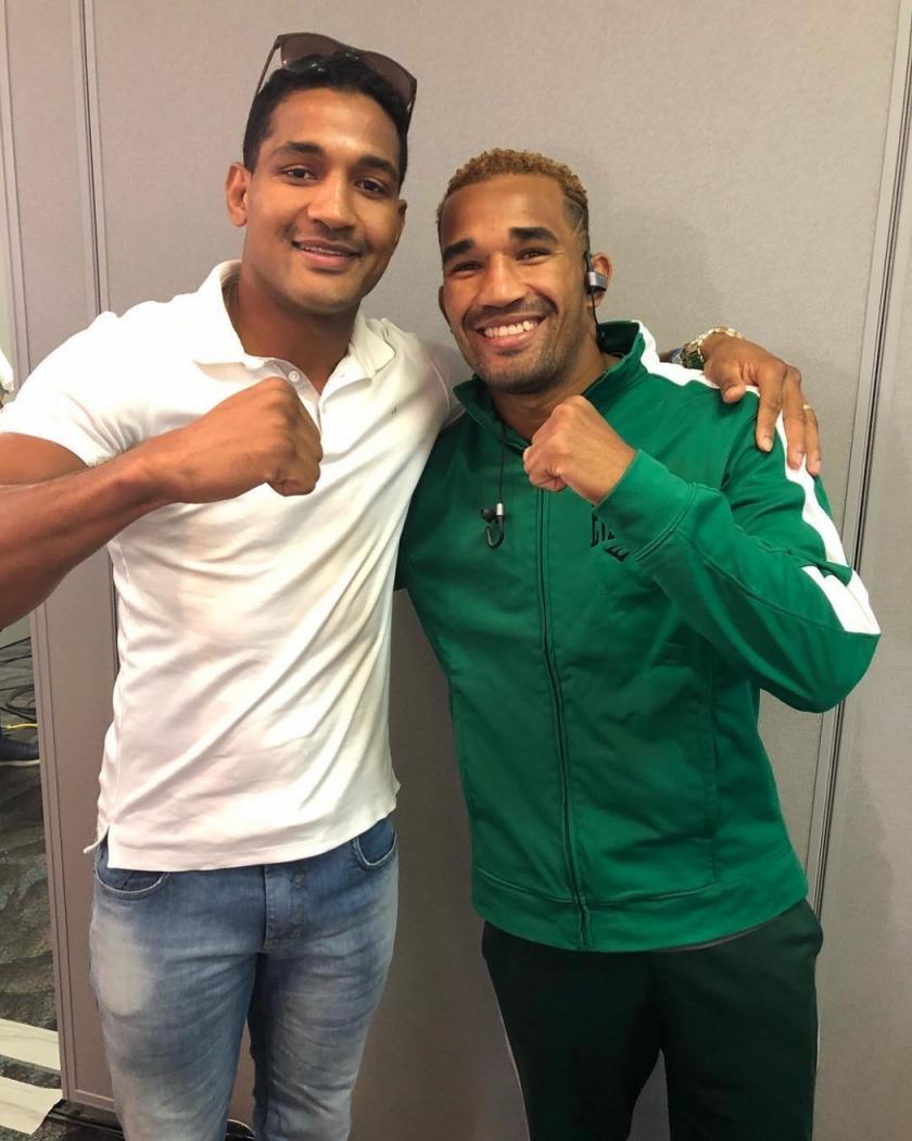 Os irmãos Yamaguchi e Esquiva Falcão vivem um ótimo momento no boxe profissional. Crédito: Reprodução/Instagram