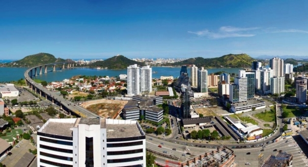Vista aérea de Vitória. Crédito: Marcelo Prest