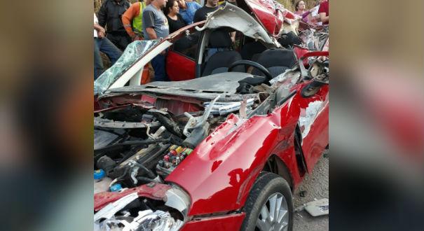 Grave acidente na BR 262 em Ibatiba. Crédito: Internauta