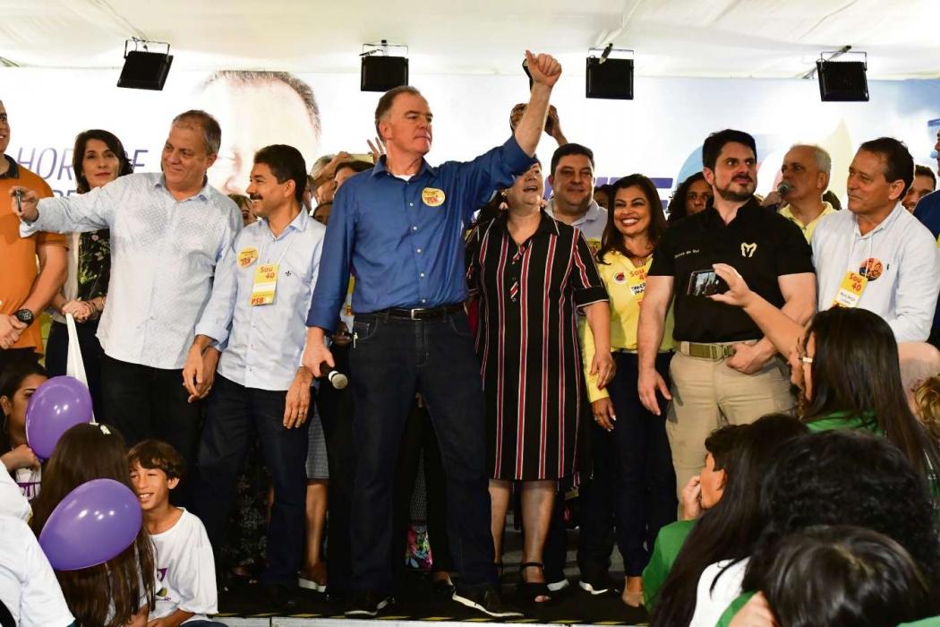 O ex-governador Renato Casagrande na convenção do PSB. Crédito: Bernardo Coutinho