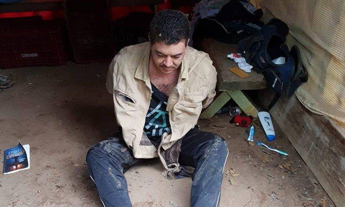 Sincero foi preso em Itaipava, no Rio de Janeiro