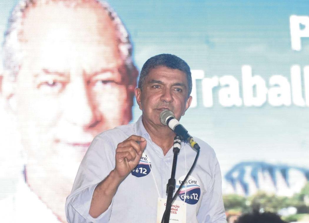 O deputado federal Sérgio Vidigal durante a convenção do PDT. Crédito: Carlos Alberto Silva
