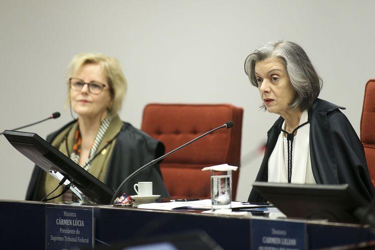 A ministra Rosa Weber e a presidente do STF, Cármem Lúcia. Crédito: Marcelo Camargo/Agência Brasil