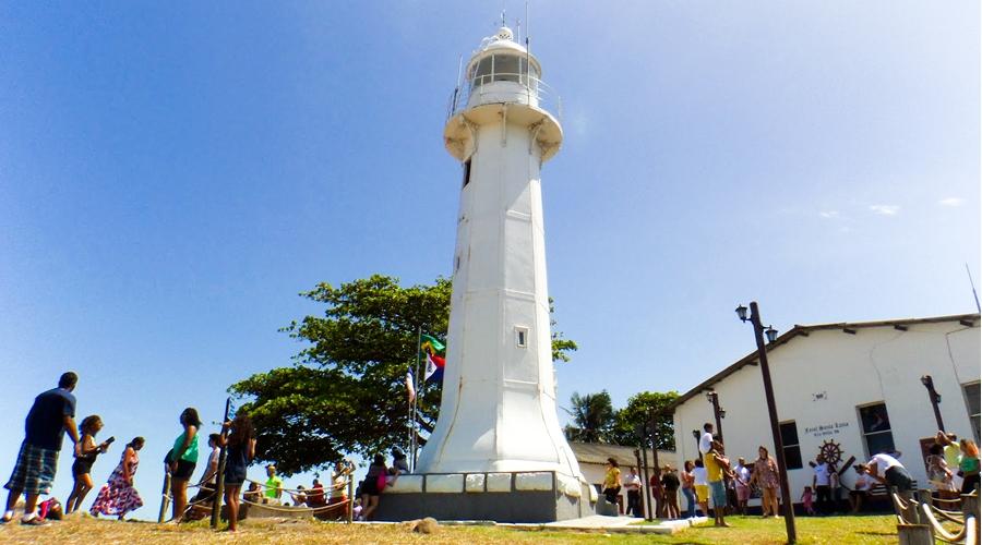 Farol Santa Luzia, em Vila Velha, registrou recorde de atendimentos em julho de 2018; férias escolares impulsionaram visitas. Crédito: Reprodução/PMVV