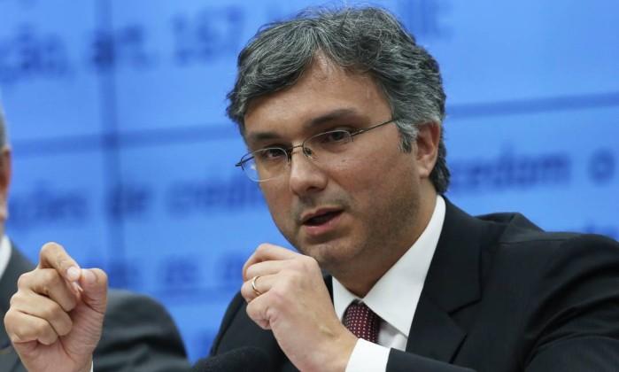 O ministro do Planejamento, Esteves Colnago, em audiência na Câmara dos Deputados . Crédito: Ailton de Freitas / Agência O Globo/06-06-2018