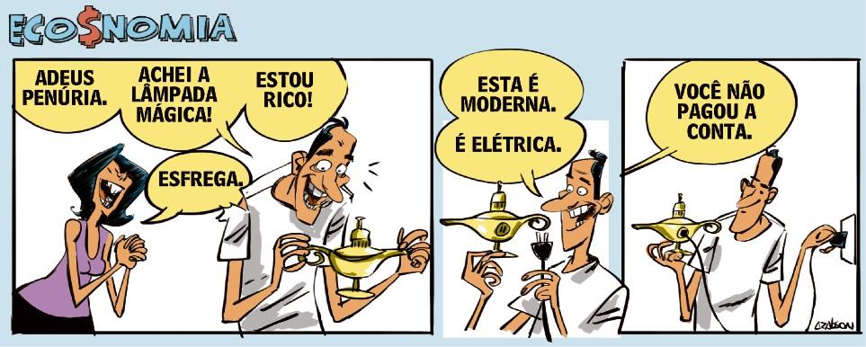 Eco$nomia - Tirinha do Arabson - 17/08/2018. Crédito: Arabson