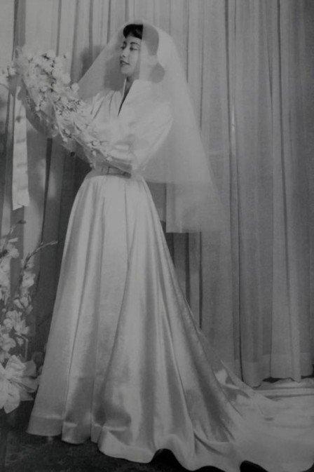 Fernanda Montenegro de noiva, em 1953. Crédito: Reprodução