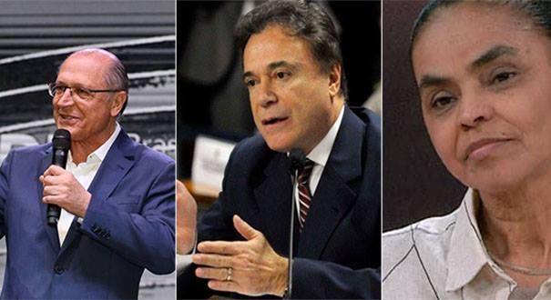 Geraldo Alckmin, Álvaro Dias, Marina Silva. Crédito: Reprodução/Instagram