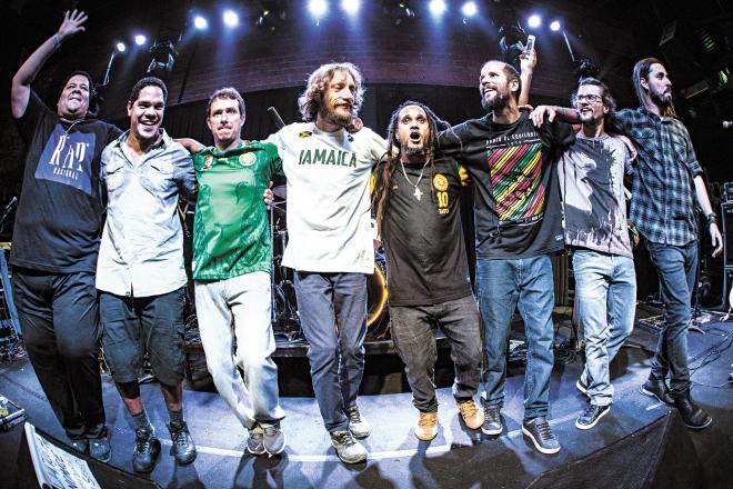 Banda carioca de reggae Ponto de Equilíbrio. Crédito: Renan Yudi