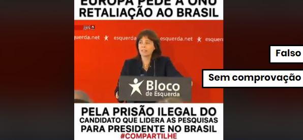 União Europeia não pediu retaliação ao Brasil por prisão de Lula. Crédito: Reprodução