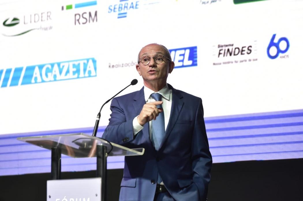O governador Paulo Hartung durante abertura do Fórum IEL de Gestão. Crédito: Leonardo Duarte/Secom