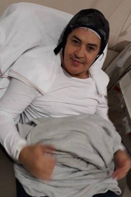 Beto Barbosa em quimioterapia. Crédito: Reprodução/Instagram