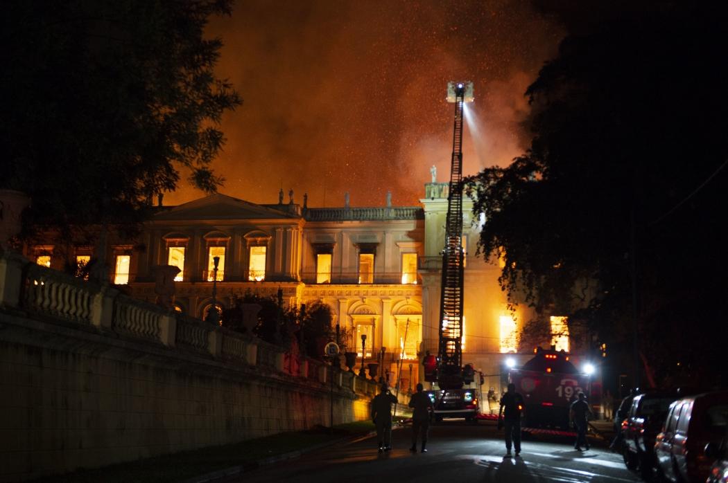 Incêndio no Museu Nacional. Crédito: CELSO PUPO/FOTOARENA/ESTADÃO CONTEÚDO