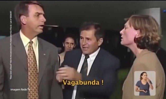 Propaganda de Alckmin mostra Bolsonaro discutindo com Maria do Rosário  . Crédito: Reprodução